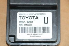 Lexus Toyota Occupant Detection Sensor Module Computer 89952-0w061 image 2