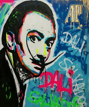 Alec Monopoly Oil Painting on Canvas graffiti art Salvador Dali Portrait... - $21.77+