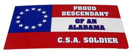 Lot of 6 Proud Descendant of a Alabama CSA Soldier Decal Bumper Sticker - $13.88