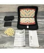 Hasbro Travel Scrabble ToGo To Go Crossword Game Zipper Complete W Tiles... - $12.82