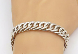 925 Sterling Silver - Vintage Shiny Polished Round Link Chain Bracelet -... - $64.60