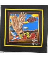 Vintage Harley Davidson Bandanna Eagle Rose Do Rag Handkerchief Scarf Face Mask - $9.90