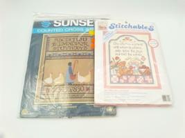 Cross Stitch Kit Lot Stitchables Sunset She Who Has A Friend Take A Gander - $14.99