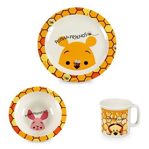 Disney Baby/Infant Winnie the Pooh and Friends Mealtime Set Plate Cup Bowl