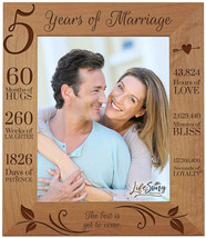 LifeSong Milestones 5th Anniversary Picture Frame 5 Year Of Marriage - F... - $57.67