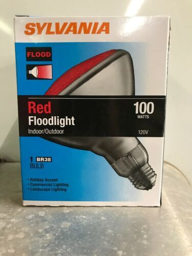 Primary image for Sylvania Brand 100 Watt Red BR38 Outdoor Flood Bulbs