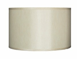 """Urbanest Faux Silk Drum Lampshade, 14"""" x 14"""" x 10"""", Spider Fitter, 6 colors - $34.99"""