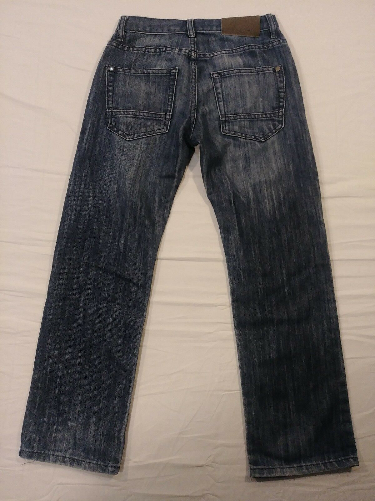 Nautica Boys Size 12 Mid Wash Blue Denim 5 Pocket Straight Leg Slim Jeans (#8) image 5