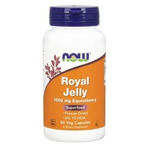 Now Foods Royal Jelly 60 Veg Capsules  Made in USA FRESH - $36.68