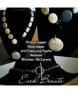 Picture Jasper Black Jasper and Crazy Lace Agate Necklace - $34.65