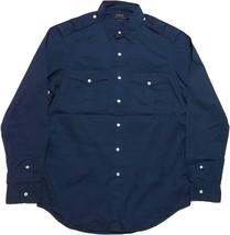 RALPH LAUREN Polo Mens Classic Fit Button-Down Safari Shirt Navy Blue Me... - $109.99