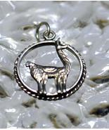 SALE Sterling Silver Adorable detailed Animal Llama cria camel Pendant C... - $12.84
