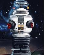 Lost In Space Robot Vintage 22X28 Color Science Fiction TV Memorabilia P... - $37.95
