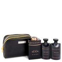 Bvlgari Man In Black 3.4 Oz Eau De Parfum Spray Gift Set image 3