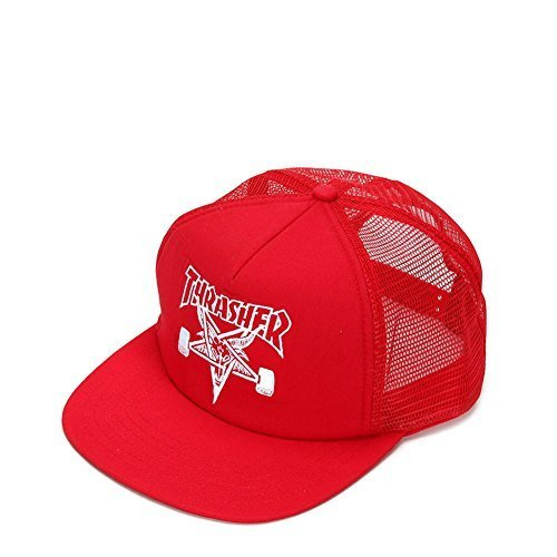 Thrasher Embroidered Thrasher Skategoat Mesh Cap 3130089 Red/White One Size