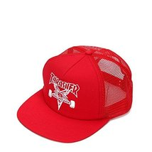 Thrasher Embroidered Thrasher Skategoat Mesh Cap 3130089 Red/White One Size - $24.92