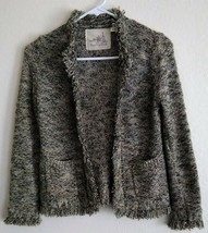 """Boho Cardigan Sweater ANTHROPOLOGIE Angel of the North """"Melodious"""" S Ope... - $28.06"""