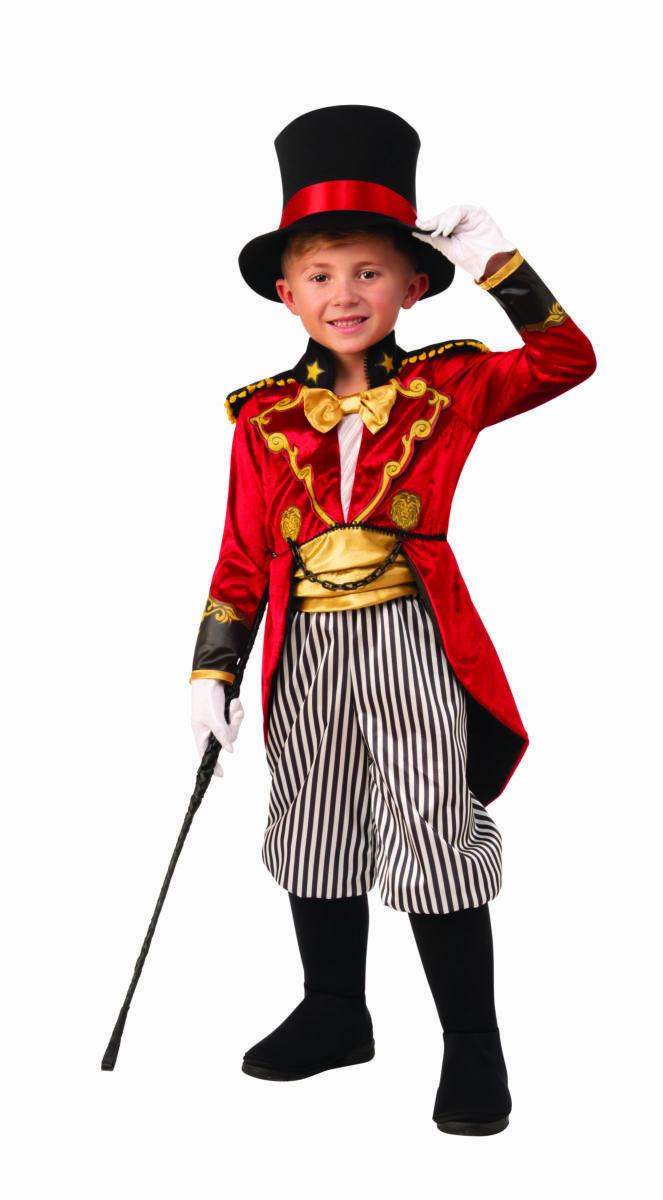 Rubies Zirkusdirektor Rädelsführer Zirkus Löwe Dompteur Kinder Halloween Kostüm