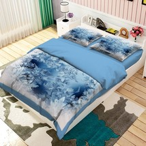 3D Ice Flower 01 Bed Pillowcases Quilt Duvet Cover Set Single Queen King Size AU - $64.32+