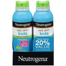 Neutrogena Wet Skin Kids Sunscreen Spray Broad Spectrum SPF 70+ 5 oz 2PK  - $19.69