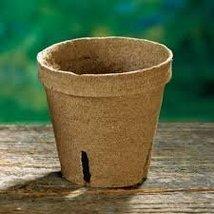 "Jiffy Pot, Single Round, 2.25"" X 2.25"", 25 Pack, Pots, 25 Cells, Biodegradable - $14.99"