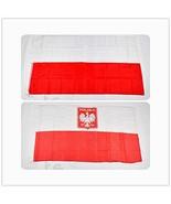 Poland Flag Polish Flags White Eagle Hanging National Big Gift Flaga Pol... - $8.99