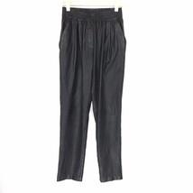WHITNEY EVE Women's Shiny Black Metallic Stretch Loose Harem Pants Size ... - $15.18
