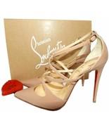 Christian Louboutin Crossfliketa 100 Nude Pointed Toe Pumps Heels Shoes 36 - $479.99