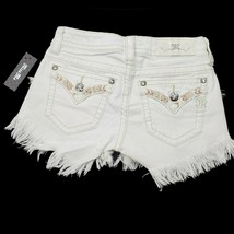 Miss Me Women's Signature Fringe Shorts JP7293H White 25 26 $89.50 Embroidered image 2