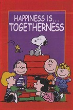 "Peanuts Gang With Snoopy ""Happiness Is ... Togetherness"" One Sided Garden Flag - $37.61"