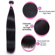 """Mink 8A Brazilian Virgin Hair Straight Remy Human Hair 3 Bundles Deals 12"""" 14"""" 1 image 5"""