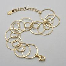 Silver Bracelet 925 Foil Gold Circles Worked by Maria Ielpo Made in Italy - image 4