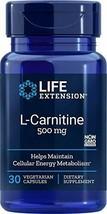 Life Extension L-Carnitine 500 Mg 30 Vegetarian Capsules - $13.60