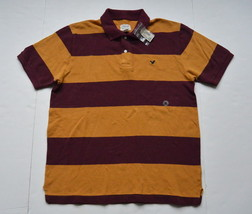 American Eagle Polo Shirt M Striped Cotton Short Sleeves Mesh AE New - $478,66 MXN