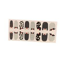 [Set of 2]Easily Apply 12 PCS Artificial Nail Polish Sticker,Dots & Bowknot