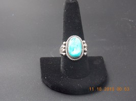 Vintage Navaho serling silver and turquoise ring - $155.00