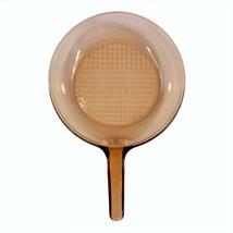 "Corning Vision Ware Glass Skillet Frying Pan Waffle Bottom USA 9"" (10"" Acr. Top) - $17.63"