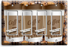 COFFEE TIME PAPER CUP LIGHT SWITCH OUTLET PLATE ROOM KITCHEN CAFE SHOP ART DECOR image 15