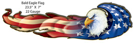 Bald Eagle Flag By Artist Bernard Oliver 7x23.5 - $19.80