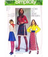 Vintage 1971 Misses' FRONT WRAP SKIRTS Pattern 9622-s Size 14 - $6.99