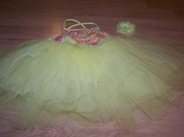 Size IC Weissman Intermediate Child Yellow Pink Full Tutu Skirted Dance ... - $32.00
