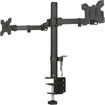 WALI Dual LCD Monitor Fully Adjustable Desk Mount Stand Fits 2 Screens up to 27
