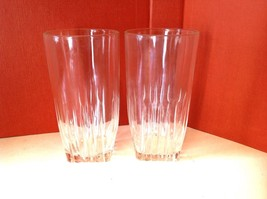 2 Vintage Delited Jelly Large  Clear Glass - $9.99