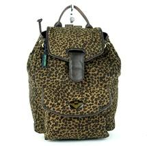 Authentic Bottega Veneta Leopard Nylon, Brown Leather Mini Backpack Shoulder Bag - $197.01
