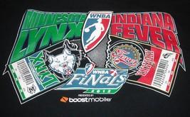 Minnesota Lynx vs Indiana Fever 2012 WNBA Finals black t-shirt XXL - $30.00