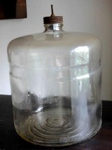 antique DURAGLAS Kerosene STOVE FUEL Glass JAR lid has push stem missing... - $68.95