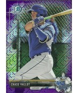 2017 BOWMAN CHROME MEGA BOX MOJO CHASE VALLOT RC PURPLE REFRACTOR 124/25... - $3.99