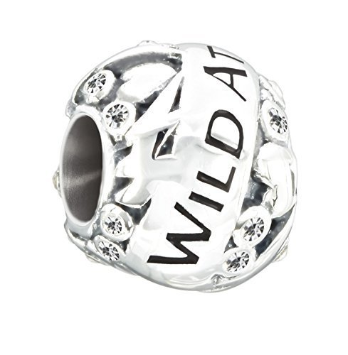 Authentic Chamilia Sterling Silver Charm Wild At Heart with Swarovski 2025-1316
