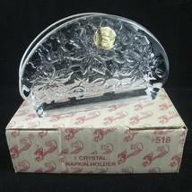 Princess House Fantasia Lead Crystal Napkin Holder 518 Germany Floral Pattern - $19.75