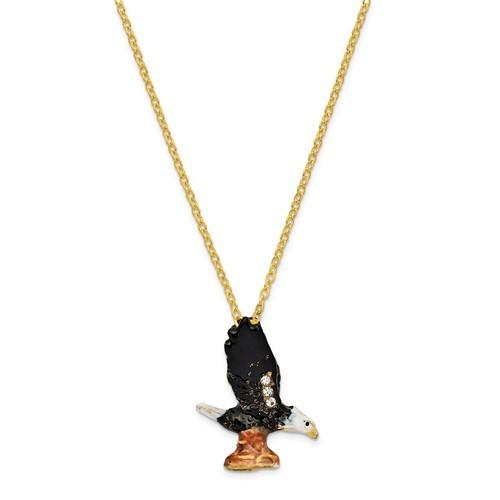 Bejeweled Bald Eagle Trinket Box